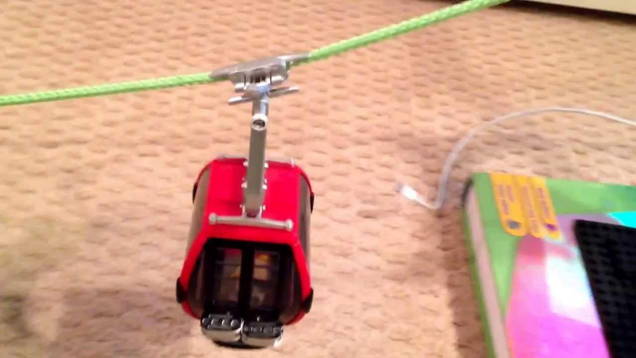 how to make a miniature ski lift