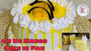 How to make 1/2 kg Mango Cake Easy Mango Cake recipe in Malayalam without oven Mango Truffle cake 