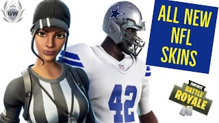 ALL NEW NFL SKINS IN FORTNITE! WHICH IS THE BEST!? Fortnite Battle Royale! FORTNITE X NFL!