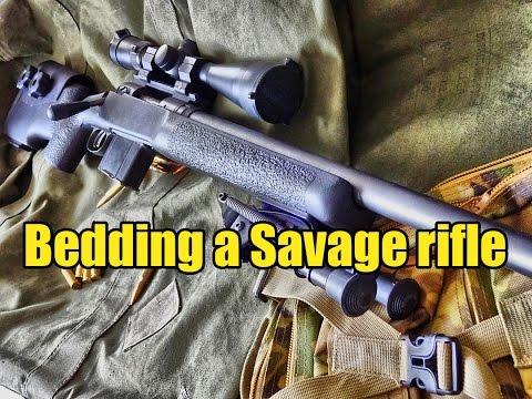 Savage Arms 10FP DIY bedding tutorial