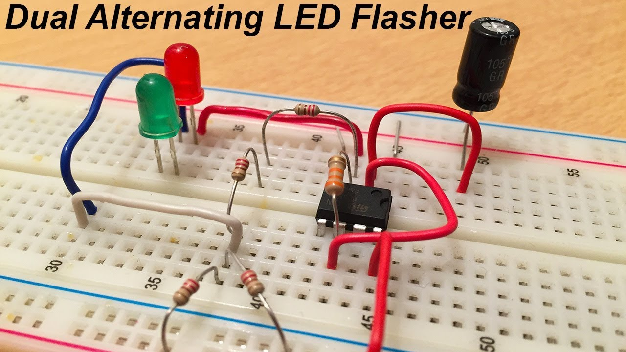 Two Flashing Leds Circuit Schematic