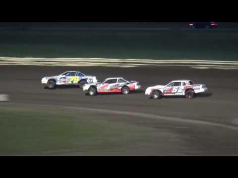 IMCA Stock Car Heat Lee County Speedway 8/19/16