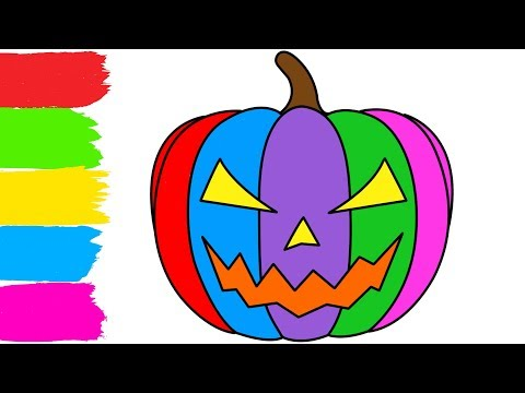 How to Draw Halloween Pumpkin Coloring Pages for Kids
