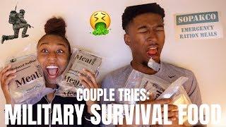 COUPLE TRIES SOLDIER SURVIVAL FOOD (MRE)!