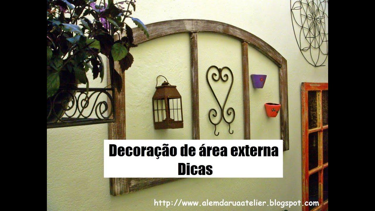 Dicas para decoraç u00e3o deárea externa corredor YouTube -> Decoração Para Area Externa Churrasqueira
