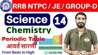 Class 14 |#RRB NTPC / JE / GROUP-D | Science (विज्ञान) Chemistry | By Vivek Sir | Periodic Table