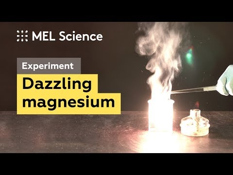 Blinding Flash Of Magnesium In Water Vapor (