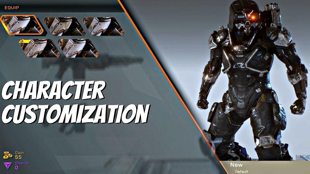 Anthem Character Customization All Options Javelin Ranger