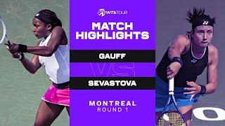 Coco Gauff vs. Anastasija Sevastova   2021 Montreal Round 1