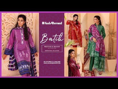 Gul Ahmed Summer Lawn 2021 Batik Festive Lawn Suit Fashion Trends #Sam