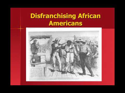 Disenfranchising African Americans