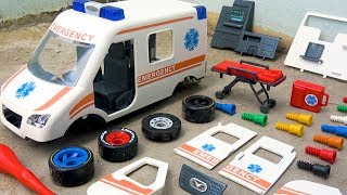 Assembling Ambulance Car for Kids with Learn Colors Toys for Children