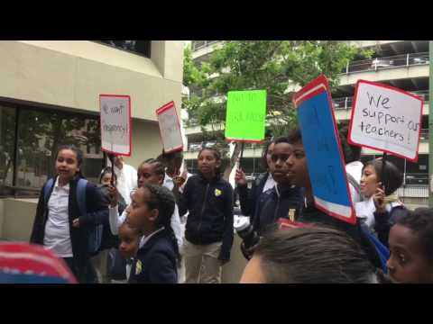PROTEST at American Indian Public Charter School 5/24/17