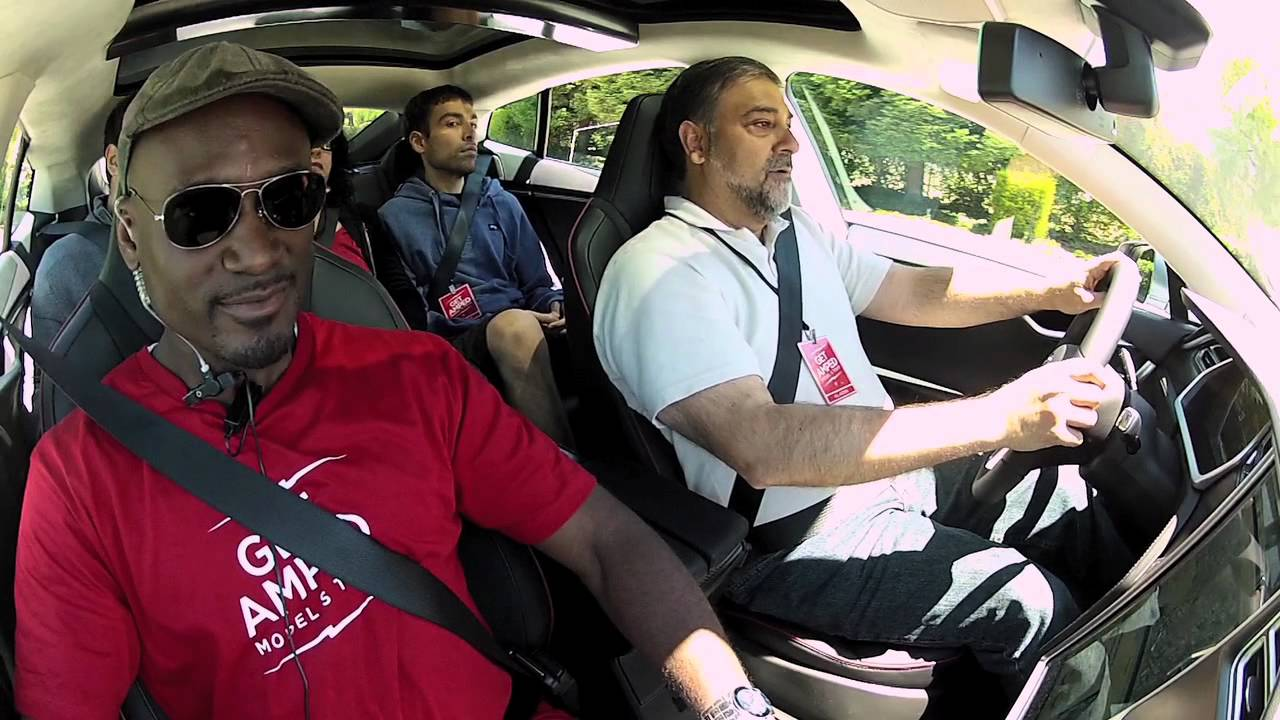 First Model S Test Drives: GetAmped!
