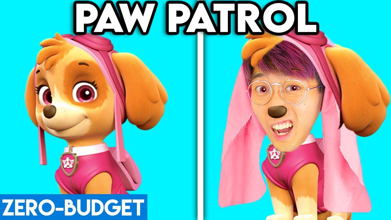 PAW PATROL WITH ZERO BUDGET! (PAW PATROL MOVIE FUNNY MOVIE PARODY BY LANKYBOX!) *SKYE RUBBLE CHASE*