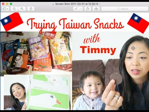 TRYING TAIWANESE SNACKS WITH TIMMY | andini overfield