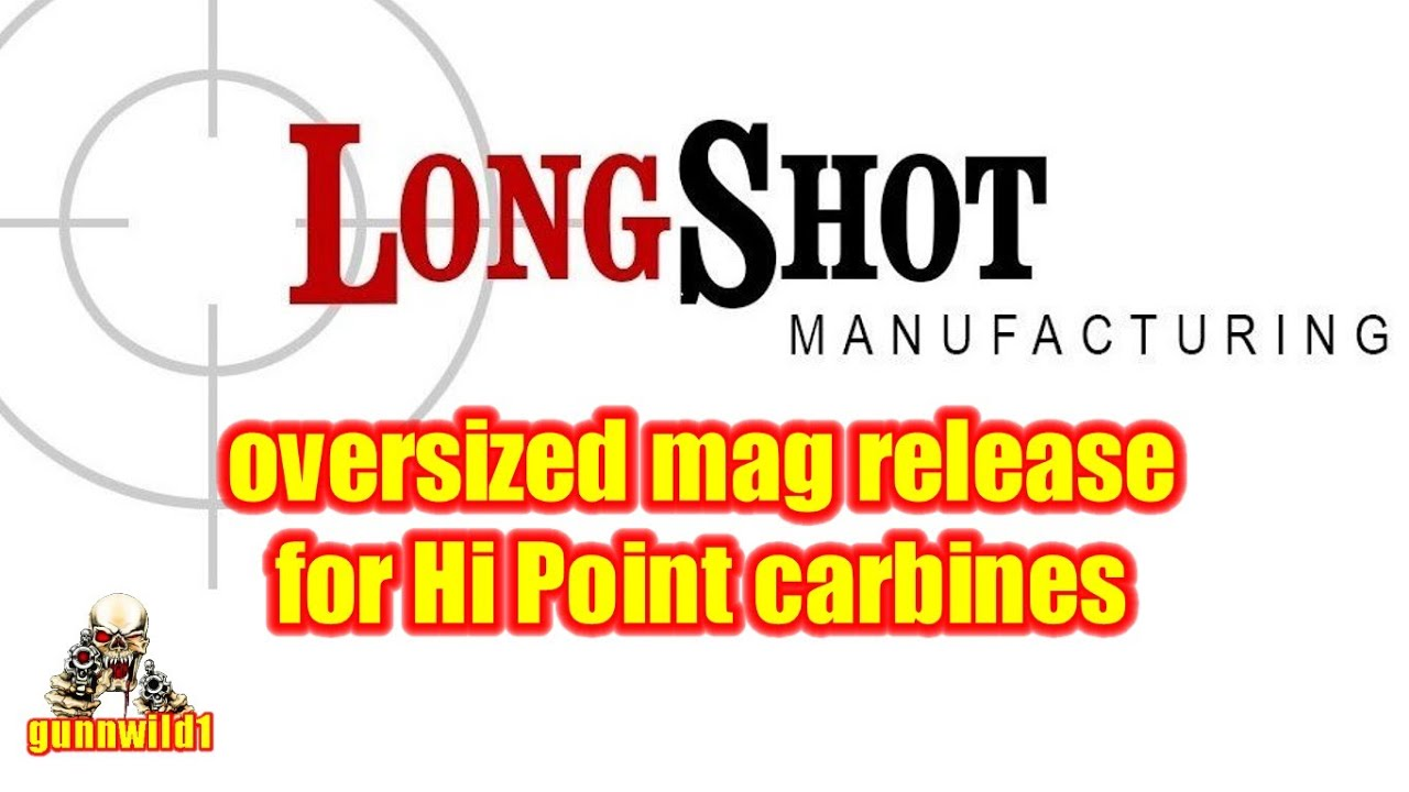 Oversize mag release for Hi Point carbines