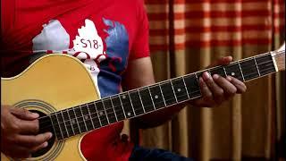 Onek sadhonar pore ami guitar cover