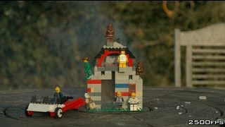 Day 3 -  Exploding Lego House - The Slow Mo Guys