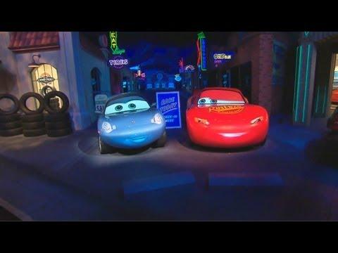 Radiator Springs Racers Animatronics In Cars Land Ride At Disney California Adventure