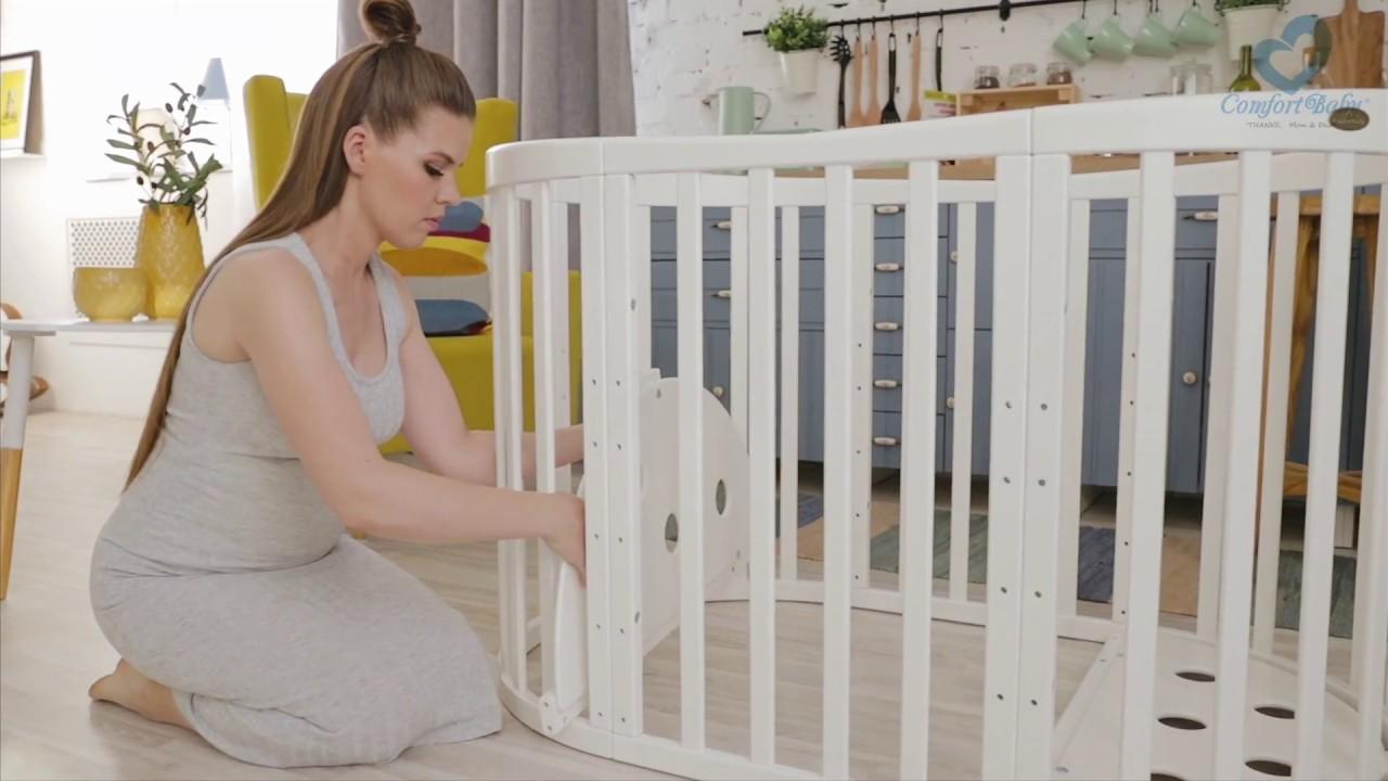 Comfortbaby® babybett smartgrow 7in1 aufbau babylaufstall baby