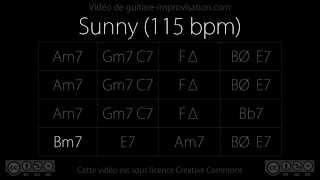 Sunny (115 bpm) : Backing Track