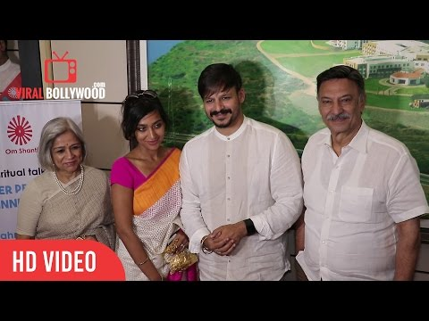 Vivek Oberoi and Family at Spiritual Talk and Felicitation | Viralbollywood.com