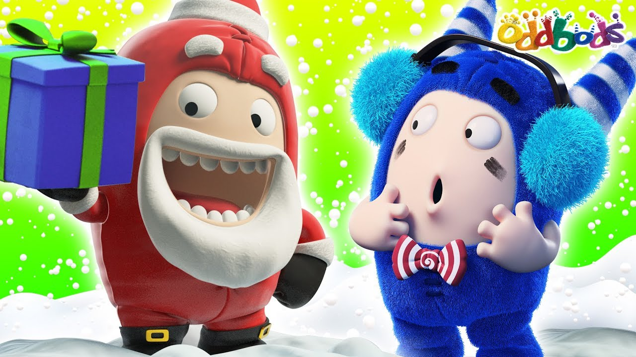 Oddbods | Slippery Ice | CHRISTMAS Cartoons For Children