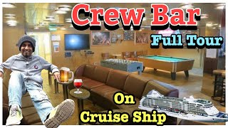Crew Bar In Cruise Ship ( Carnival Freedom)