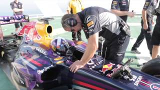 Red Bull celebrate F1 title on Burj Al Arab helipad