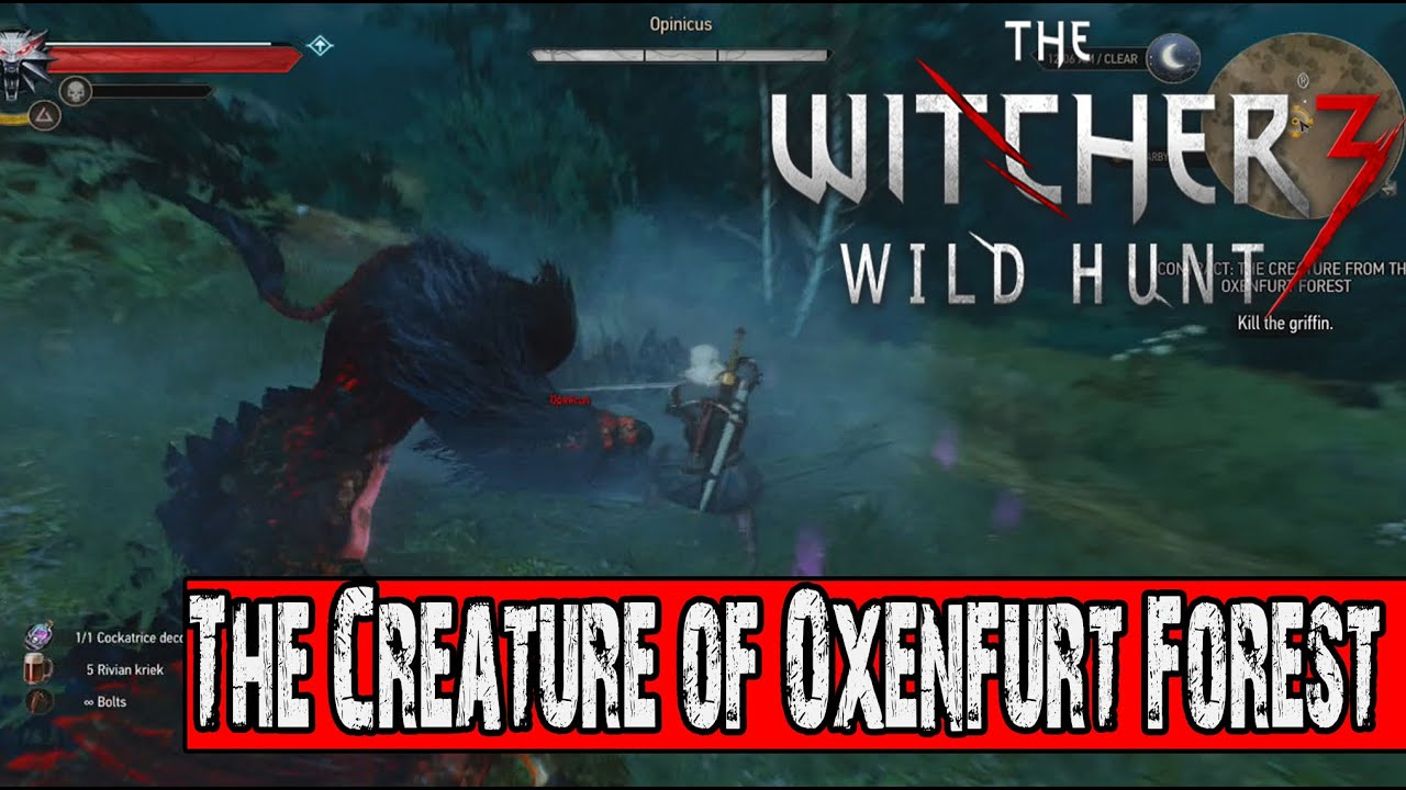 The Witcher 3 Wild Hunt: Side Mission: Witcher Contract - The Creature of  Oxenfurt Forest