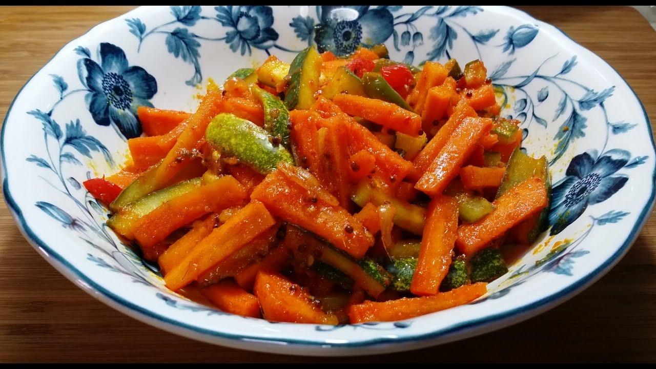 how to make acar timun recipe