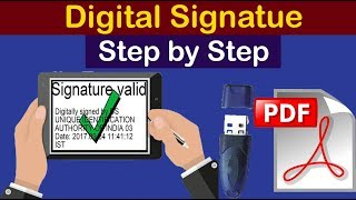 how to sign digital signature on pdf or documents | how to create digital signature in pdf