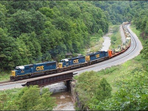 CSX Trains on the Keystone Sub