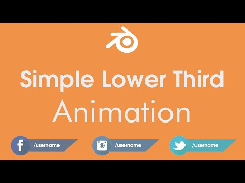 Simple Lower Third Animation Tutorial In Blender : Social Media