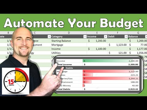 Excel Budget Template | Automate your budget in 15 minutes