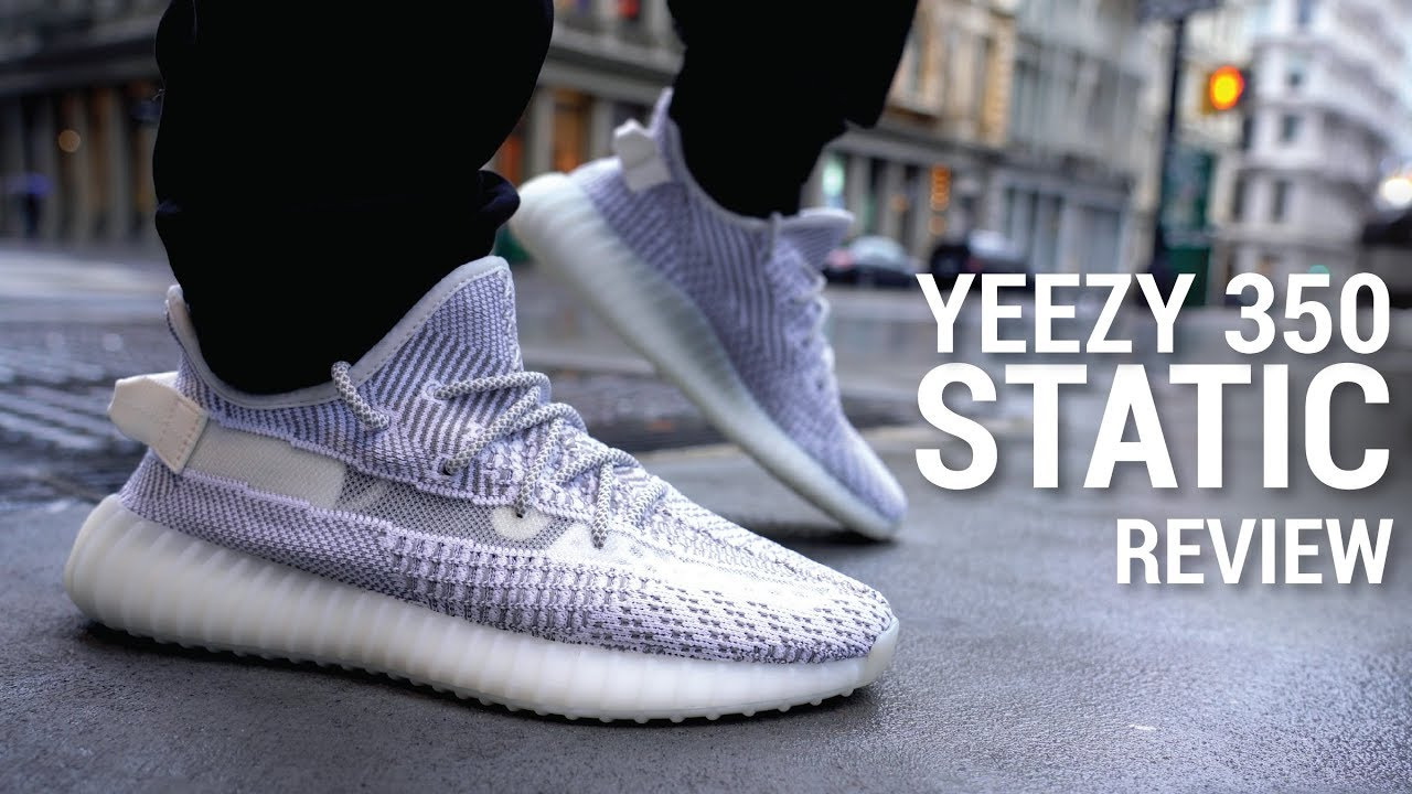 ADIDAS YEEZY 350 BOOST V2 BLACK STATIC YouTube