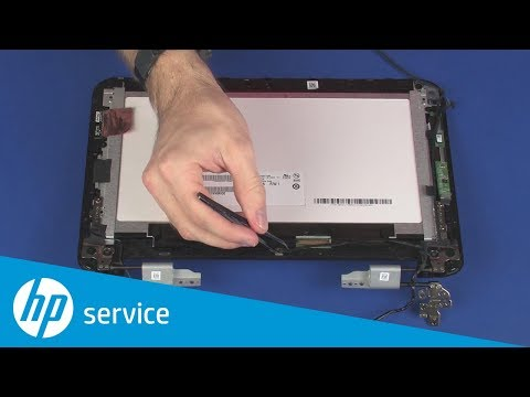 Replace The Touchscreen Cable Hp Pavilion X360 11 N000 Hp Youtube