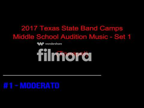 2017 Texas State Band Camps Middle School Audition Music - Set 1 (Trumpet)