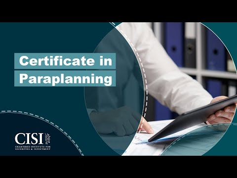 CERTIFIED FINANCIAL PLANNER (CFP) certification