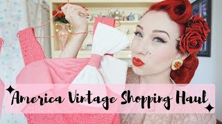 American Vintage Shopping Haul with pinup Miss Lady Lace!