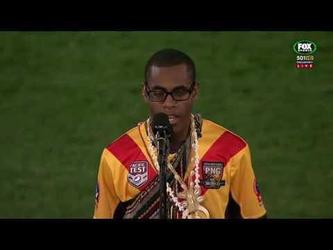 PNG National Anthem _ Leslie Gagau (Live Performance) 2016