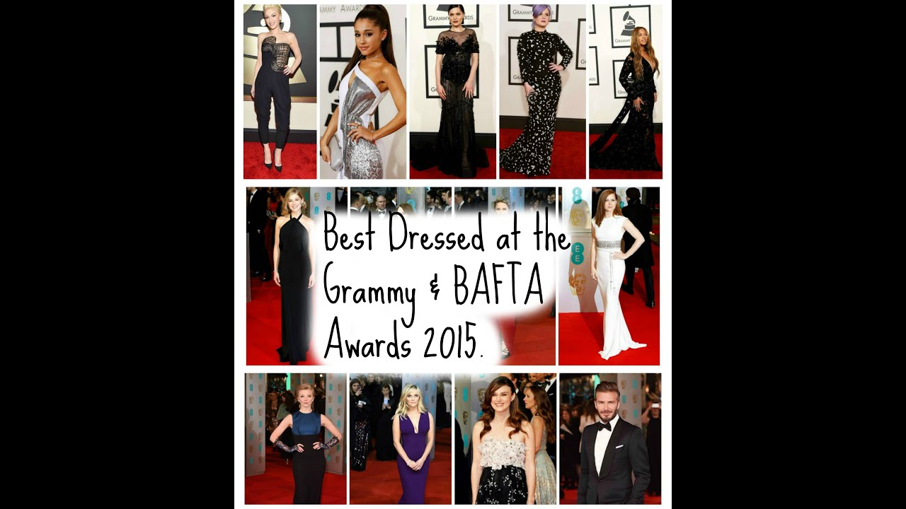 Best Dressed at the Grammy   BAFTA Awards 2015. - YouTube 296773f3237