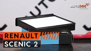 Comment remplacer Filtre climatisation RENAULT SCÉNIC II (JM0/1_) - tutoriel