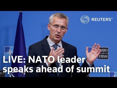 LIVE: NATO leader Jens Stoltenberg speaks ahead of next week's summit