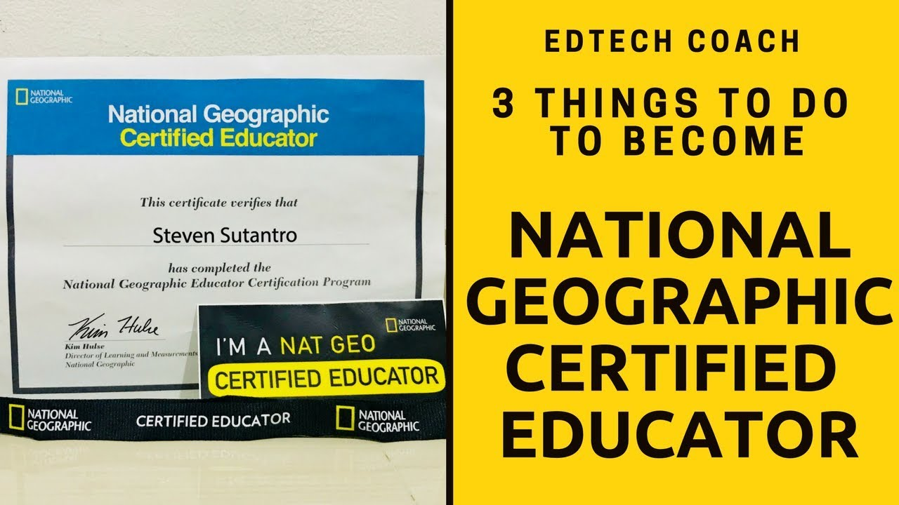 How To Become National Geographic Certified Educator Youtube