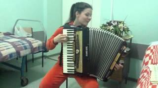 Анна Бутова - Берегись Автомобиля, соло на аккордеоне