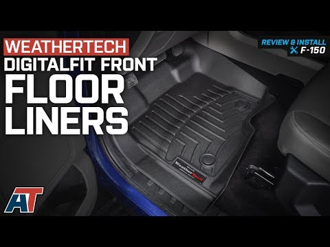 2015-2018 F150 Weathertech DigitalFit Front Floor Liners - Black with Vinyl Floors Review & Install
