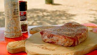 숯불 립아이 바베큐 / Ribeye Steak BBQ …