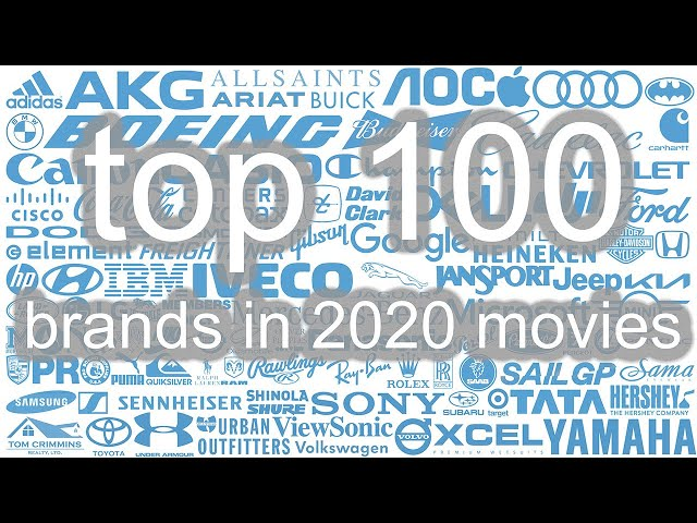 top 100 product placement brands in 2020 movies